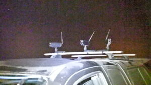 Array of GEN7 ISNs on vehicle for using thermal cameras on the move to detect BFFs
